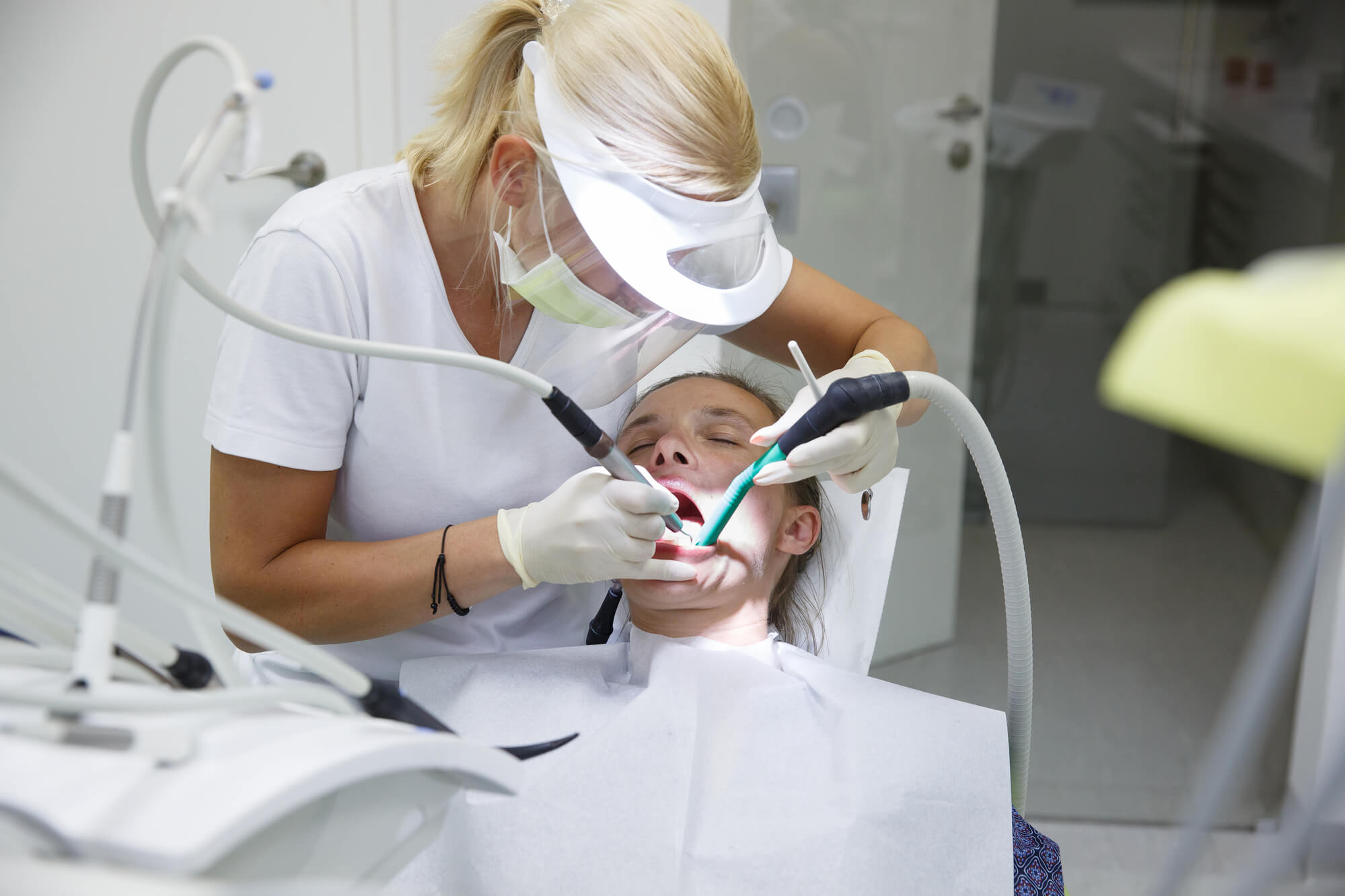 a person under Root Canal treatment in Cary NC